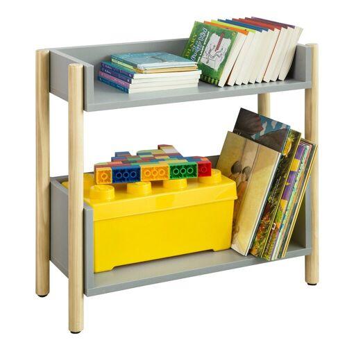 SoBuy Bücherregal »KMB28«, Kinderregal mit 2 Ablagen