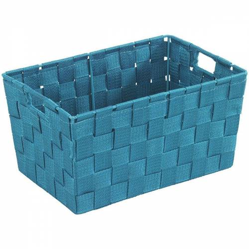 WENKO Aufbewahrungskorb, türkis \ blau