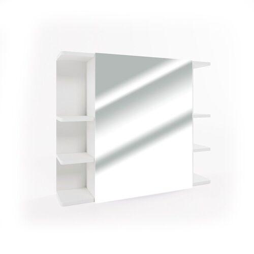Vicco Badezimmerspiegelschrank »Spiegelschrank FYNN 80 x 64 cm Weiß - Spiegel Badspiegel Bad Wandspiegel«
