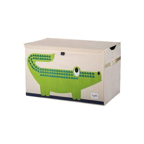 3 Sprouts Aufbewahrungsbox »Aufbewahrungskiste Krokodil, 38 x 61 cm«, grün