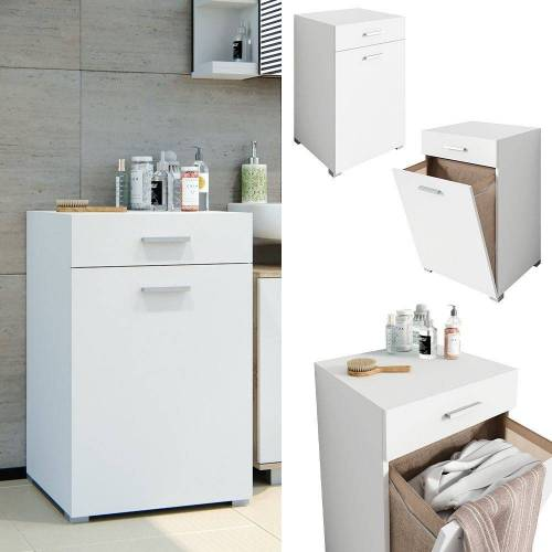 Vicco Wäscheschrank »Wäschekorb Matteo Waschmaschinenschrank Badschrank XL Weiß«