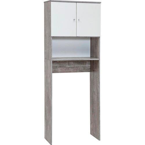 Wilmes Waschmaschinenumbauschrank »Simply«, grau/weiß