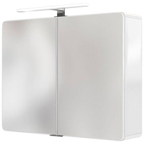 HELD MÖBEL Spiegelschrank »Seattle Spiegelschrank 80« LED-Acryl-Aufbauleuchte, weiß - weiß