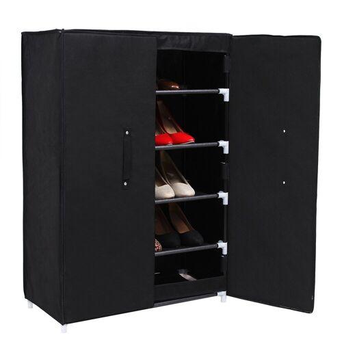 SONGMICS Schuhschrank »RXA16H« 6 Ebenen Schuhablage Schuhregal, schwarz