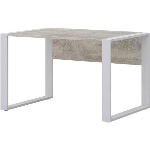 röhr Schreibtisch »Direct Office 2«, mit Klappe für Kabelmanagement und Kufengestell, ABS-Kanten, beton