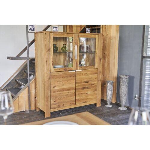 KAWOLA Kommode »LIAN«, Highboard mit 4 Türen Eiche