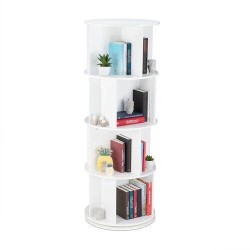 relaxdays Bücherregal »Drehbares Bücherregal mit 12 Fächern«