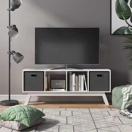 Vicco Raumteiler »Ludus 4 Fächer Standregal Lowboard Sideboard Kommode TV-Board«, Weiß