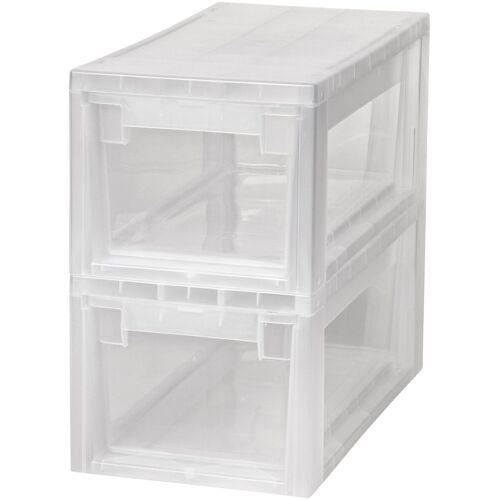 Kreher Aufbewahrungsbox »2x 7 Liter, mit Schubladen« 2er Set, transparent