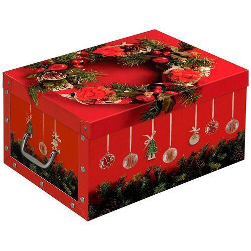 Kreher Aufbewahrungsbox »X-Mas«, rot