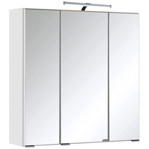 HELD MÖBEL Spiegelschrank »Texas« Breite 60 cm, mit LED-Aufbauleuchte, weiß