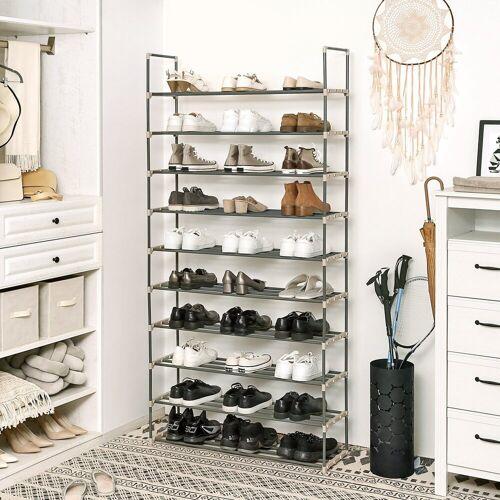SONGMICS Schuhregal »LSA10G«, Schuhregalfür bis zu 50 Paar Schuhe, grau