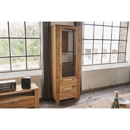 KAWOLA Kommode »LIAN«, Vitrine mit 1 Tür und 2 Schubladen Eiche
