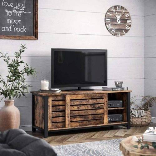 VASAGLE Lowboard »LTV41BX«, TV-Schrank für Fernseher bis 48 Zoll, Fernsehtisch, Wohnzimmer, Flur, dunkelbraun