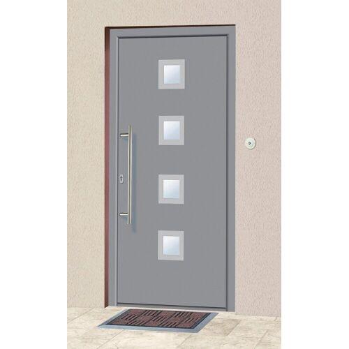 KM Zaun KM MEETH ZAUN GMBH Aluminium-Haustür »A05«, BxH: 98x208 cm, grau, in 2 Varianten, grau