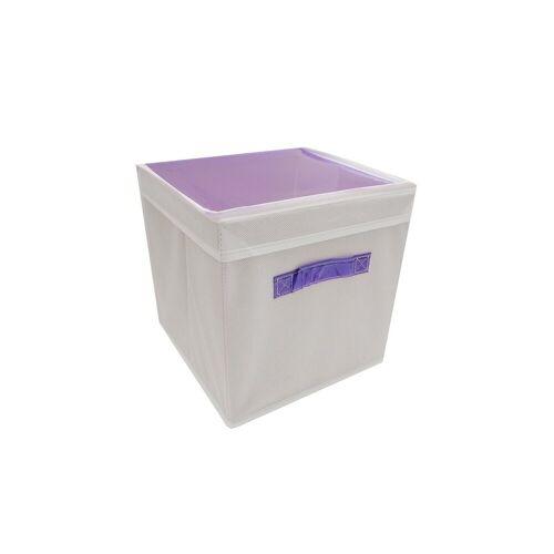 HTI-Line Aufbewahrungsbox »Aufbewahrungsbox mit Deckel Paloma« (1 Stück), Stoffbox, Lila