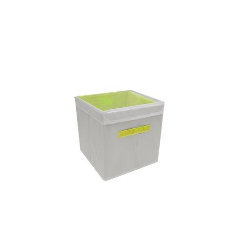 HTI-Line Aufbewahrungsbox »Aufbewahrungsbox mit Deckel Paloma« (1 Stück), Stoffbox, Gelb