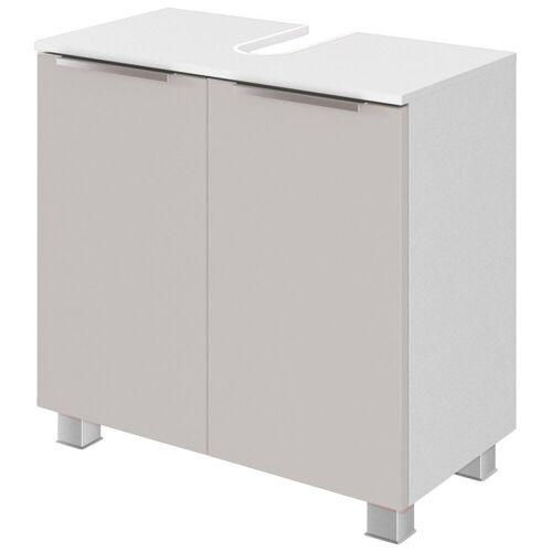 HELD MÖBEL Waschbeckenunterschrank »Matera« Breite 60 cm, mit hochwertigen matten MDF-Fronten, grau