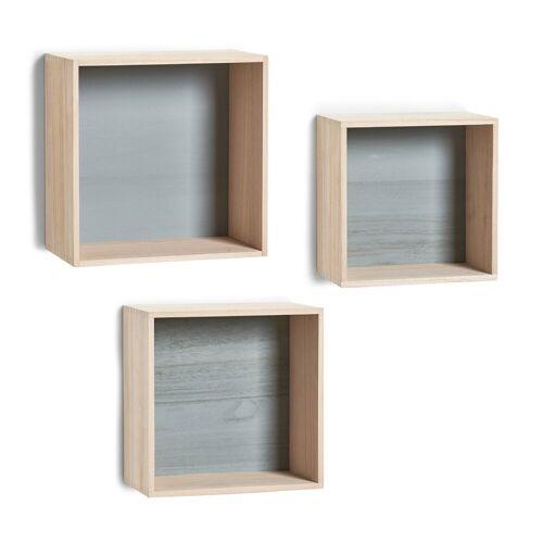 HTI-Living Wandregal »Wandregal-Set 3-teilig Cubes«, 3-tlg., Wandregale