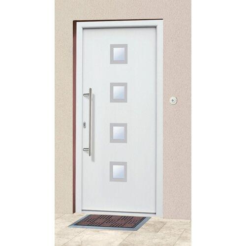 KM Zaun KM MEETH ZAUN GMBH Aluminium-Haustür »A05«, BxH: 98x208 cm, weiß, in 2 Varianten, weiß