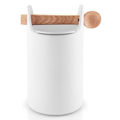 Eva Solo Aufbewahrungsbox »Toolbox mit Löffel Eiche/Keramik Weiß H 20 cm«, Keramik, (1-tlg)