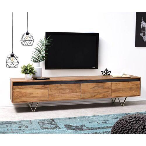 DELIFE TV-Board »Stonegrace«, Akazie Natur 200 cm 4 Schübe Designer Lowboard