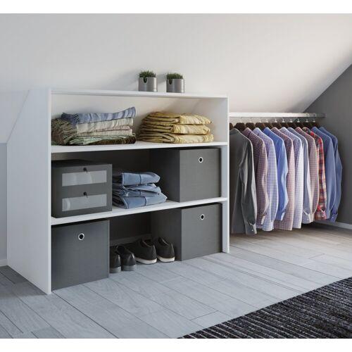 """VCM Kleiderschrank »Dachschrägen Regal """"Dacho"""" mit Kleiderstange«, Weiß"""