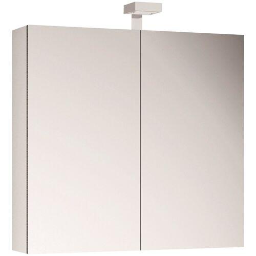 ALLIBERT Spiegelschrank , Breite 80 cm mit LED-Beleuchtung, weiß