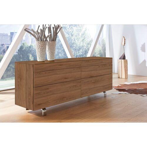 hülsta Sideboard »NEO Sideboard«, mit 6 Schubladen, Breite 211,2 cm, inklusive Liefer- und Montageservice durch Monteure, Kernnussbaum