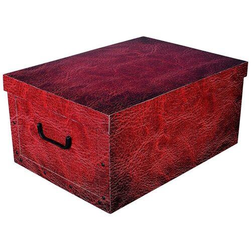 Kreher Aufbewahrungsbox »Red Leather«, rot