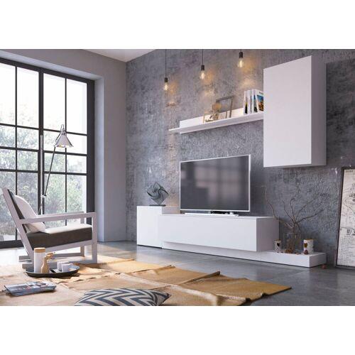 my home Wohnwand »Rimini«, (Set, 4-tlg), weiß/weiß matt