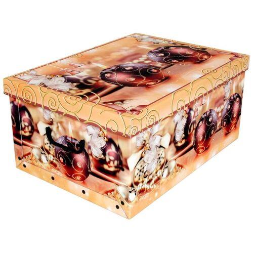 Kreher Aufbewahrungsbox »Weihnachtskugeln«, goldfarben