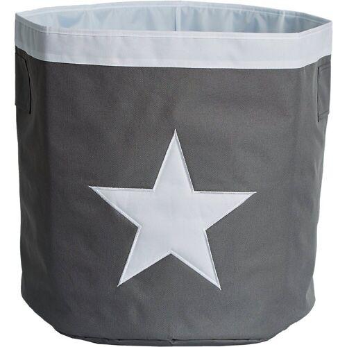 STORE IT! Aufbewahrungsbox »Aufbewahrungskorb Maxi Stern«, grau/weiß
