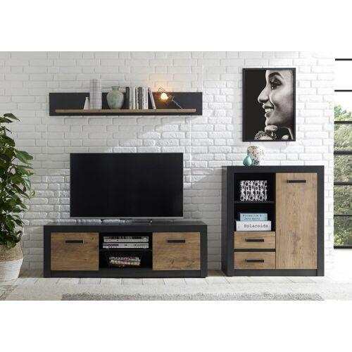 my home Wohnwand »Brügge«, (Set, 3-tlg), Mit einer dekorativen Rahmenoptik