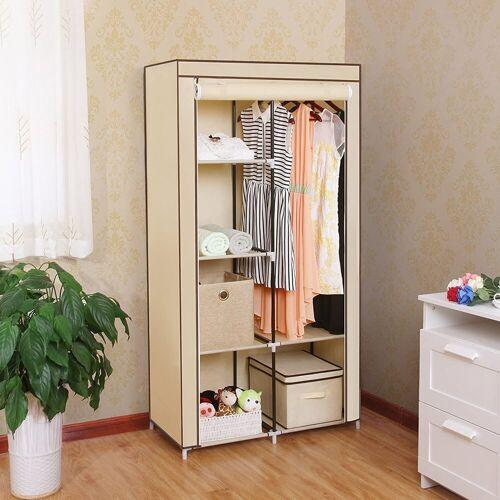 SONGMICS Kleiderschrank »RYG84M« Kleiderschrank, Faltschrank mit 2 Kleiderstange, beige