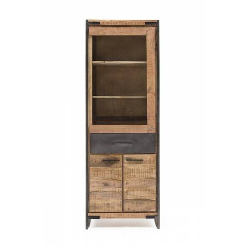 KAWOLA Vitrine »WEST« Vitrinenschrank aus Akazienholz