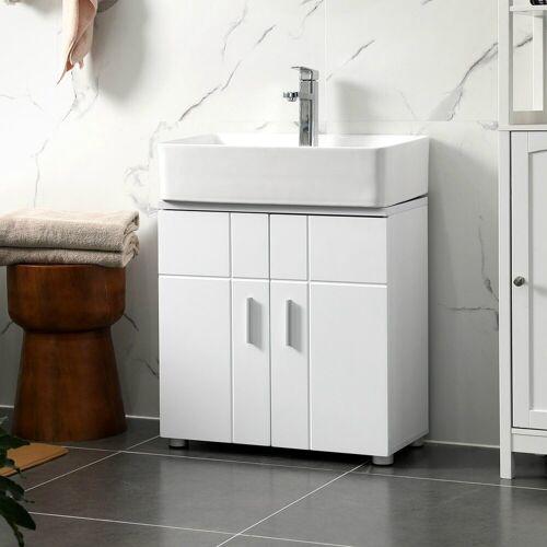 VASAGLE Waschbeckenunterschrank »BBK02WT« Waschbeckenunterschrank, Badezimmerschrank, Unterschrank, weiß