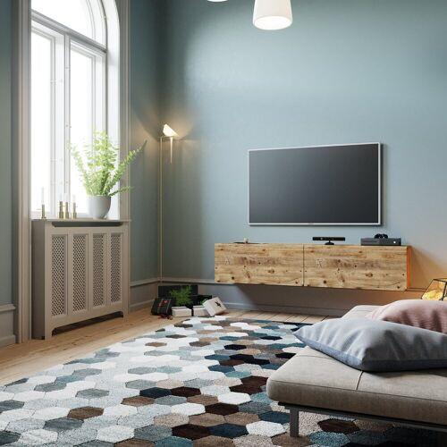 Yurupa Wohnwand »TV Board hängend Lowboard Hängeschrank Hängeboard Wohnwand«, Holz
