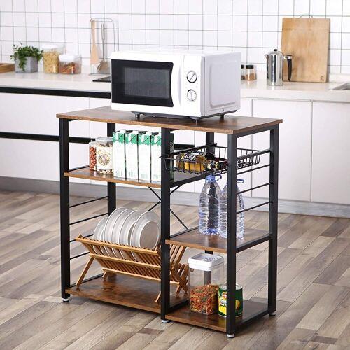 VASAGLE Küchenregal »KKS90X«, Standregal, Mikrowellenregan, vintage
