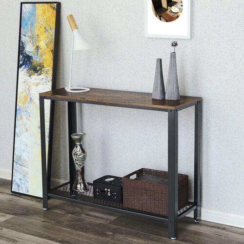 VASAGLE Konsolentisch »LNT80X«, Konsolentisch Holz und Metall Beistelltisch, vintage