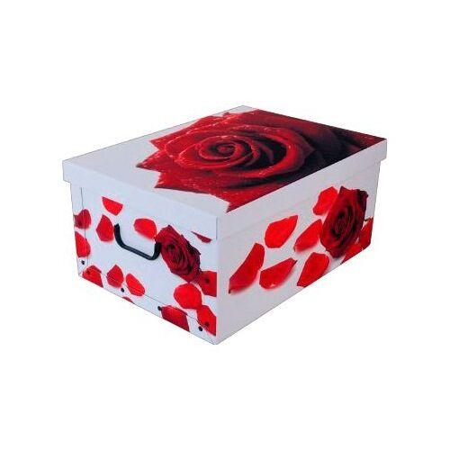 Kreher Aufbewahrungsbox »Rose Rot«, rot/weiß