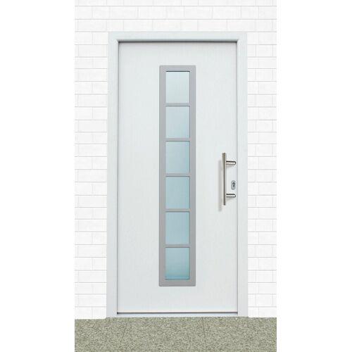 KM Zaun KM MEETH ZAUN GMBH Aluminium-Haustür »A04«, BxH: 98x198 cm, weiß, in 2 Varianten, weiß