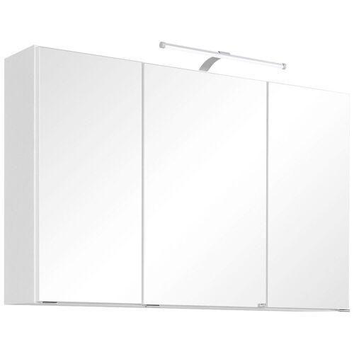 HELD MÖBEL Spiegelschrank »Florida« Breite 100 cm, mit LED-Beleuchtung, weiß