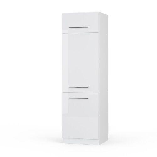 Vicco Backofen/Kühlumbauschrank »Kühlumbauschrank 60 cm Weiß Küchenzeile Unterschrank Fame«, Weiß