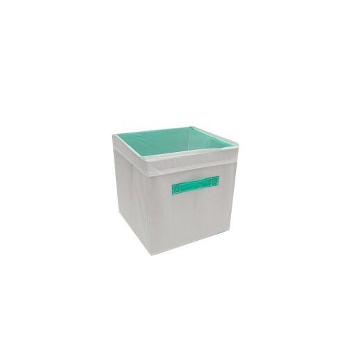 HTI-Line Aufbewahrungsbox »Aufbewahrungsbox mit Deckel Paloma« (1 Stück), Stoffbox, Grün
