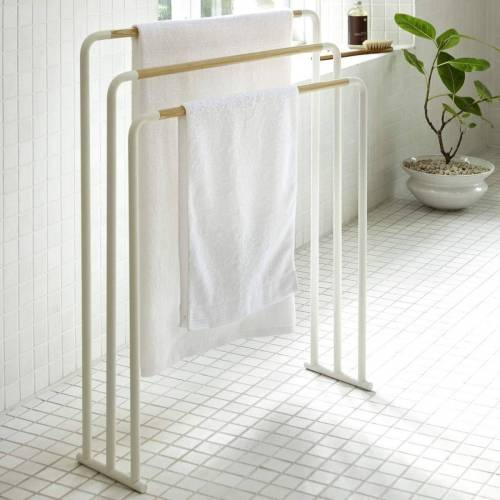 Yamazaki Handtuchständer »Plain«, Handtuchhalter, freistehend, weiß