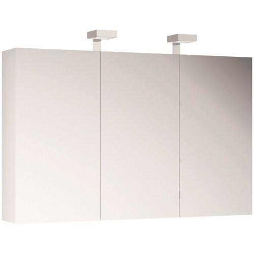 ALLIBERT Spiegelschrank , Breite 120 cm mit LED-Beleuchtung, weiß