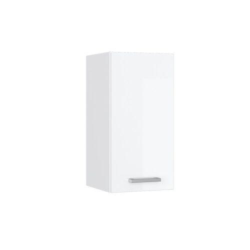 Vicco Hängeschrank »30 cm Küchenzeile Küchenunterschrank Küchenmöbel R-Line Weiß Hochglanz«, Weiß