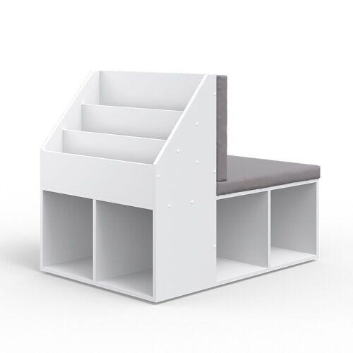 Vicco Standregal »Kinderregal ONIX mit Sitzbank Kindersitzbank Spielzeug Kinderzimmerregal«
