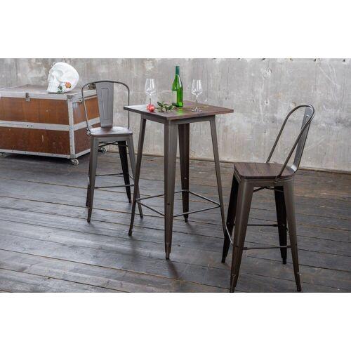 KAWOLA Beistelltisch »VILDA«, Bartisch Holz/Metall